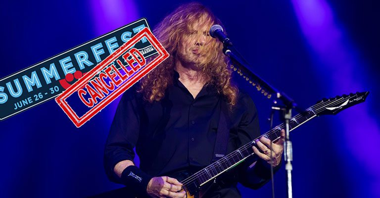 Megadeth front singer on stage