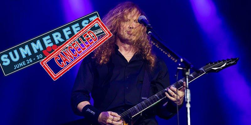 Megadeth front singer on stage