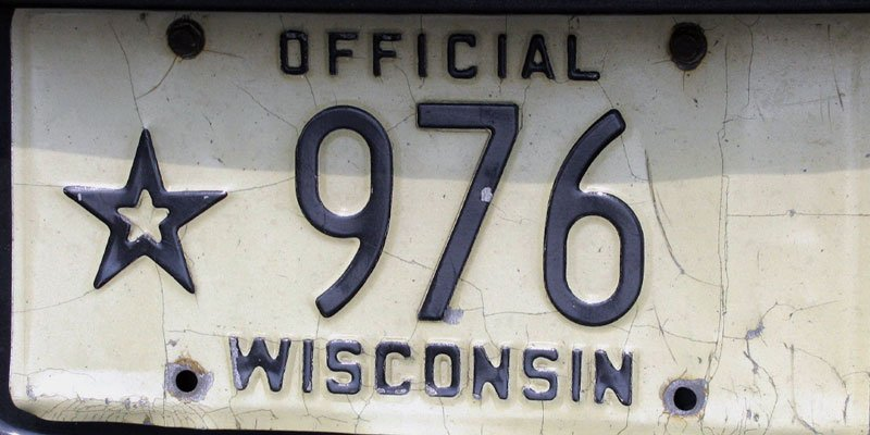 Wisconsin Lincense Plate